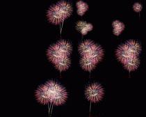 漂亮的烟花效果摄影高清图片