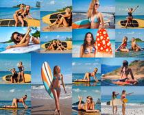 海边比基尼性感美女拍摄高清图片