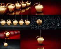 金色苹果艺术摄影高清图片