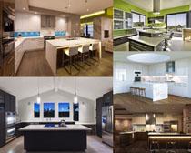 欧式厨房设计摄影高清图片