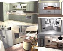 3D厨房设计效果摄影高清图片