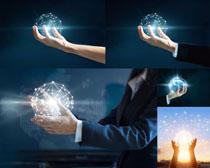商务手与科技摄影高清图片