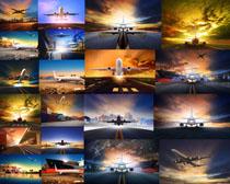 航空飞机拍摄高清图片