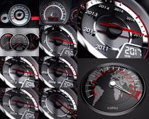 汽车速度表摄影高清图片