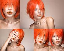 红头发女子摄影高清图片