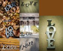 LOVE金属字母摄影高清图片