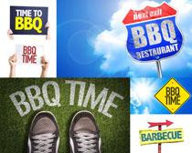 BBQ展示牌摄影高清图片