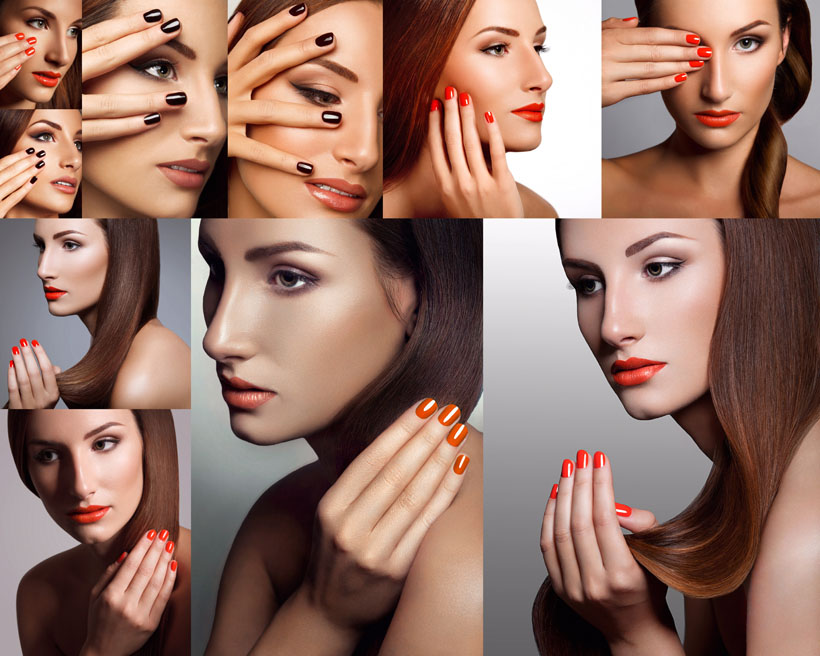 美容化妆女子摄影高清图片