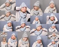 冬季打扮女人摄影高清图片
