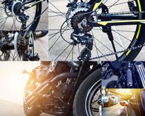 自行车轮摄影高清图片