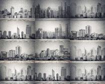 绘画建筑背景摄影高清图片