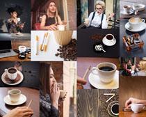 咖啡与烟摄影高清图片