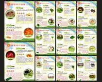 蔬菜营养价值展板模板矢量素材