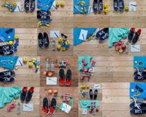 运动鞋子与能量摄影高清图片