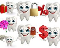 微笑卡通牙齿摄影高清图片