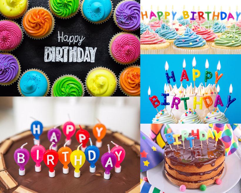 儿童生日蛋糕摄影高清图片