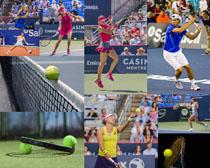 网球运动女子摄影高清图片