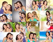 女儿与妈妈拍摄高清图片