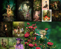 梦幻卡通人物拍摄高清图片