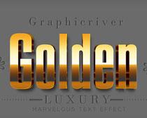 金属字体黄金字体PS字体样式