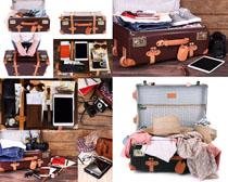 旅游行李箱摄影高清图片