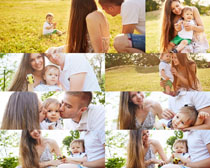 幸福的家庭人物摄影高清图片