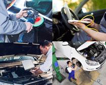汽车维护护理摄影高清图片