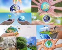 环保关爱地球摄影高清图片