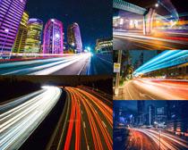 交通夜景城市道路摄影高清图片