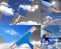 玻璃刮器摄影高清图片