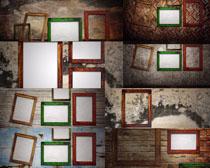 墙壁上的相框摄影高清图片