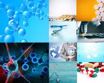 药物分子摄影高清图片