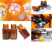 药物罐子摄影高清图片