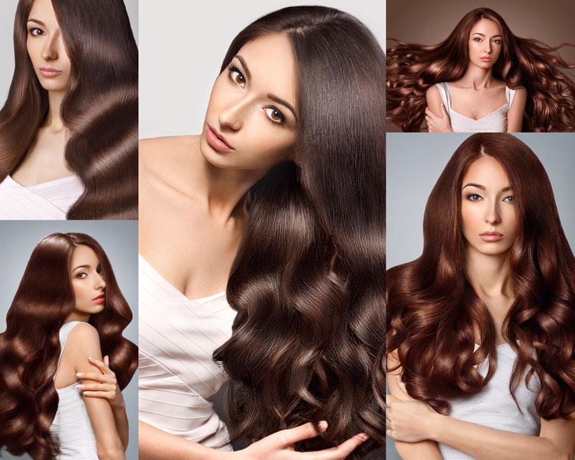 欧美卷发时尚美女摄影高清图片