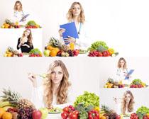 营养师美女与水果摄影时时彩娱乐网站
