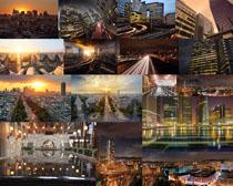 夜色城市风光拍摄高清图片