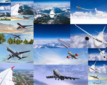 蓝天运输飞机摄影高清图片