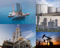 海上建筑石油摄影高清图片