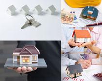 建筑房屋模型摄影高清图片