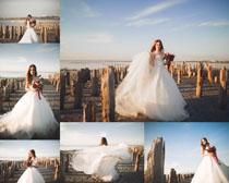婚纱国外女子摄影高清图片