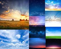 美丽蓝天云朵摄影高清图片