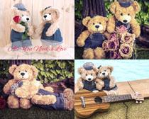 可爱毛绒小熊摄影高清图片