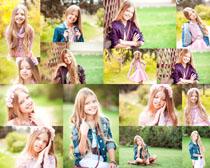 微笑国外小姑娘摄影高清图片