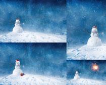 冬天雪人风景摄影高清图片