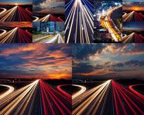 夜景道路风光摄影高清图片