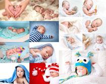 床上的宝贝摄影高清图片