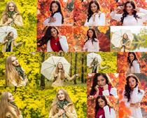 春天女人写真摄影高清图片