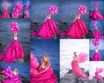 海边婚纱写真女子摄影高清图片