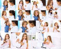 看病的小女孩摄影高清图片