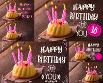 生日蛋糕蜡烛摄影高清图片